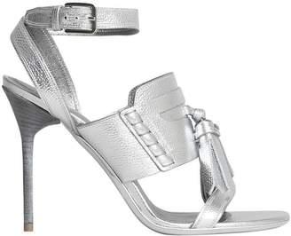 Burberry Tasselled Metallic Leather Sandals