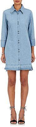 J Brand Women's Bacall Cotton-Linen Denim Shirtdress $230 thestylecure.com