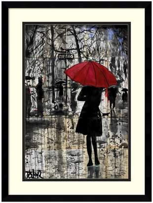 Amanti Art Metro Red Umbrella Framed Wall Art