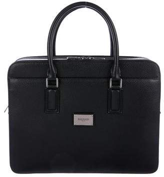 Balmain Nappa Leather Briefcase w/ Tags