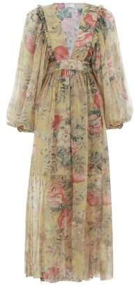 Zimmermann Melody Wrap Long Dress
