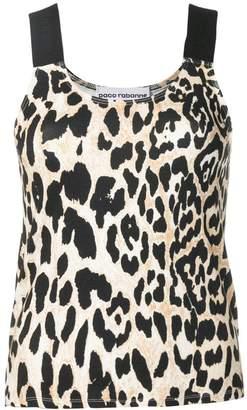 Paco Rabanne Leopard print tank top
