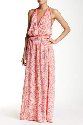 Love Stitch Fitted Floral Print Maxi