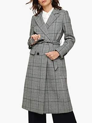 Carmel Check Trench Coat, Multi
