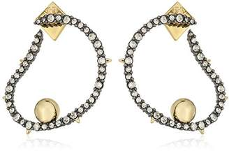 Alexis Bittar Wavey Front with Gold Ball Hoop Earrings