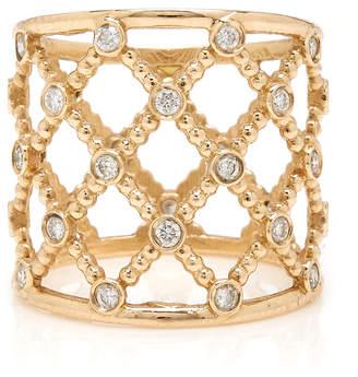 Sophie Ratner 14K Gold Diamond Caged Ring