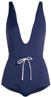 Solid & Striped The Edie Drawstring Waist Swimsuit - Womens - Navy