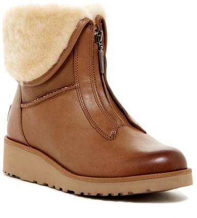 UGGUGG Australia Caleigh Genuine Shearling Lined Zip Wedge Boot