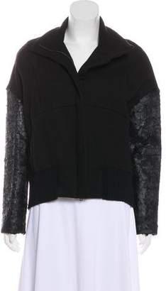 Ann Demeulemeester Wool Zip-Up Jacket