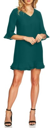Women's Cece Kate Ruffle Shift Dress $138 thestylecure.com
