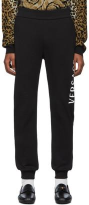 Versace Black Logo Sweat Pants