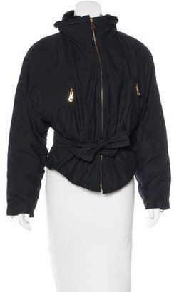 Andrew Marc Belted Zip-Up Jacket $95 thestylecure.com