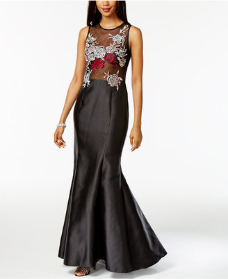 Xscape Floral-Embroidered Mermaid Gown $279 thestylecure.com
