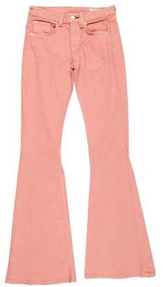 Rag & Bone Mid-Rise Wide-Leg Jeans