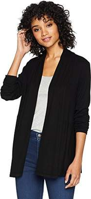 Michael Stars Women's 2x1 Rib Long Sleeve Cardigan