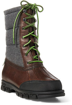 Ralph Lauren Quinlyn Leather Snow Boot $159 thestylecure.com