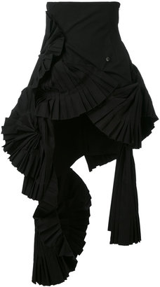 ruffled pleated skirt