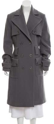 Flavio Castellani Wool Long Coat