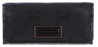 Longchamp Patent Leather-Trimmed Wallet