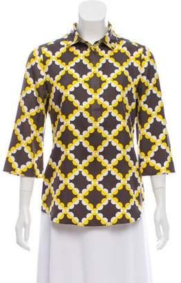 Tory Burch Silk Printed Blouse