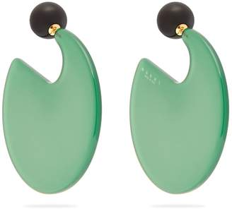 Marni Circle-hoop round post-back earrings