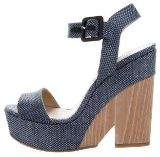 Jimmy Choo Canvas Ankle-Strap Snadals