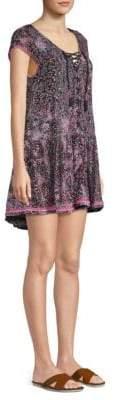 Lucy Lace-Up Mini Dress