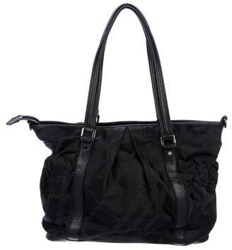 Burberry Leather-Trimmed Diaper Bag