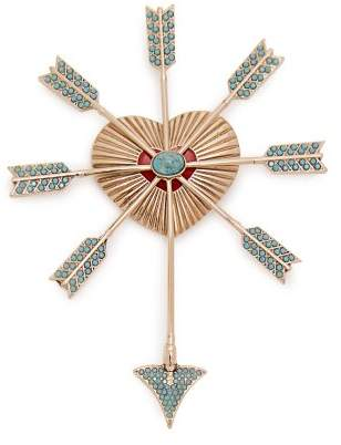 Etro (エトロ) - Etro - Heart And Arrows Brooch - Womens - Blue