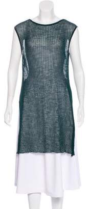 Sarah Pacini Wool Knit Tunic