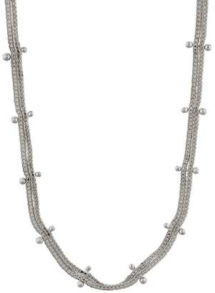 Ten Thousand Things Studded Double Chain Choker - Sterling Silver