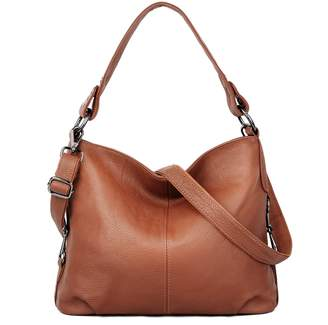 YALUXE Women's Stylish Genuine Leather Tote Travel Shoulder Bag Handle bag Bags for Women