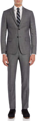 John Varvatos Two-Piece Black & White Nailhead Suit