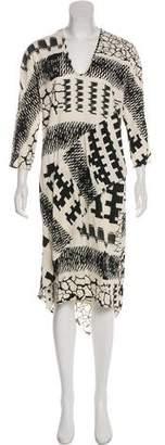 Zero Maria Cornejo Printed Midi Dress