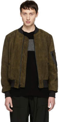 Schott Brown Suede MA-1 Bomber Jacket