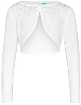 John Lewis Girls' Bridesmaid Cardigan, Off White