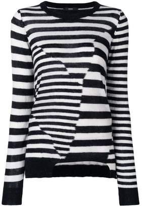 Diesel patchwork stripe sweater