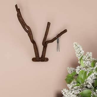 Decorative Tree Branch Hook-Cast Iron Shabby Chic Rustic Wall Mount Hooks for Coats, Towels, Hats, Scarves, Jewelry, and More by Lavish Home (Brown)