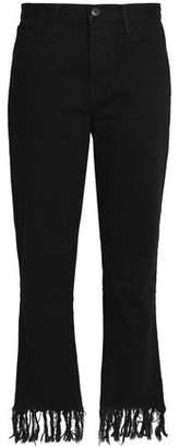 3x1 Frayed High-Rise Straight-Leg Jeans