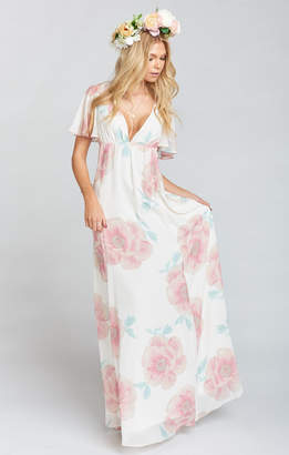 Show Me Your Mumu Faye Flutter Maxi Dress ~ GWSXMUMU Wedding Bells Floral