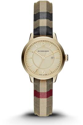 Burberry BU10104 32mm Stainless Steel Case Multicolor Cloth Synthetic Sapphire Women's Watch
