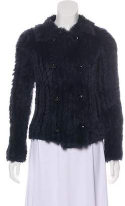 Marc Jacobs Double-Breasted Fur Jacket