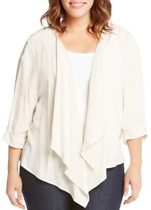 Karen Kane Plus Drape Front Jacket