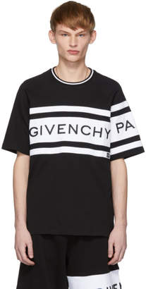 Givenchy Black and White Embroidered Logo T-Shirt