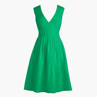 J.Crew Tall V-neck A-line dress in faille