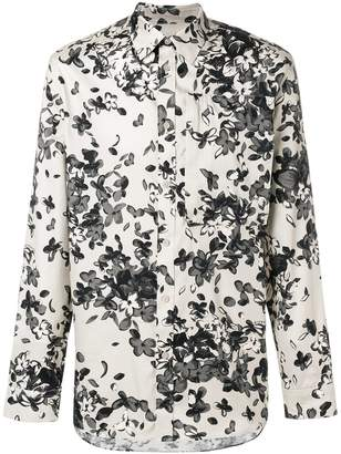 Givenchy floral long-sleeve shirt