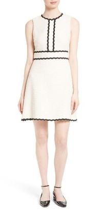Women's Kate Spade New York Scallop Trim Tweed Fit & Flare Dress $398 thestylecure.com