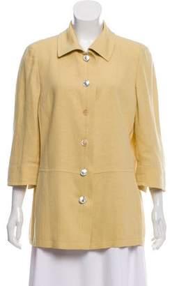 Akris Collared Linen Jacket