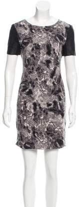 Yigal Azrouel Cut25 by Leather-Paneled Mini Dress