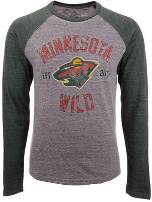 Majestic Men Minnesota Wild Heritage Long Sleeve Raglan T-shirt